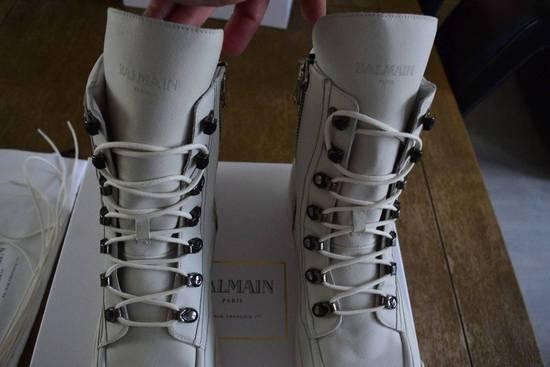 Balmain Balmain Authentic $1150 Leather White High Top Sneakers Size 11 Brand New Size US 11 / EU 44 - 7