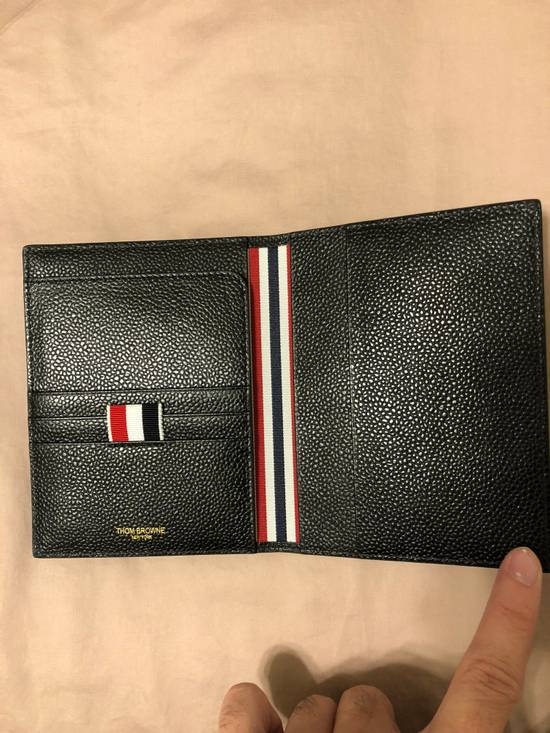 Thom Browne pebble grain leather passport holder Size ONE SIZE