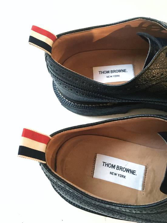 Thom Browne THOM BROWNE CLASSIC BROGUES WITH GUM SOLE IN BLACK PEBBLE GRAIN SIZE US11 Size US 11 / EU 44 - 5