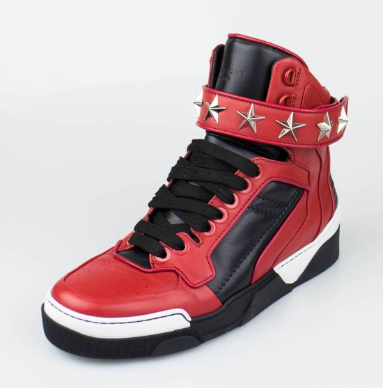 Givenchy Red Leather Hi-Top Fashion Sneakers Size US 7 / EU 40 - 1