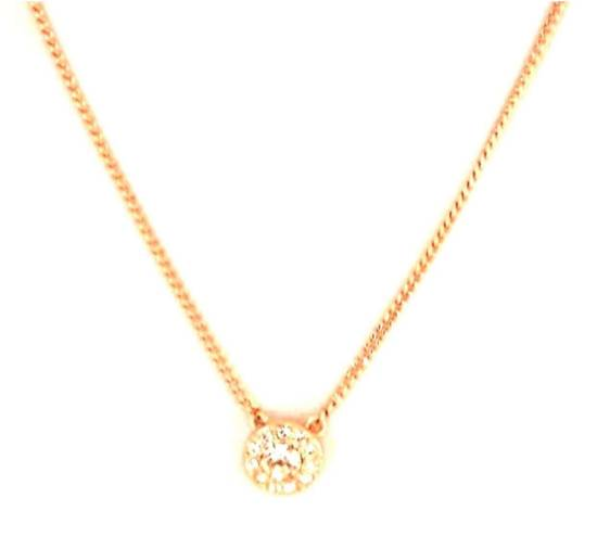 Givenchy Givenchy Gold Tone Necklace Crystal Pendant Chain Diamonds Size ONE SIZE - 1