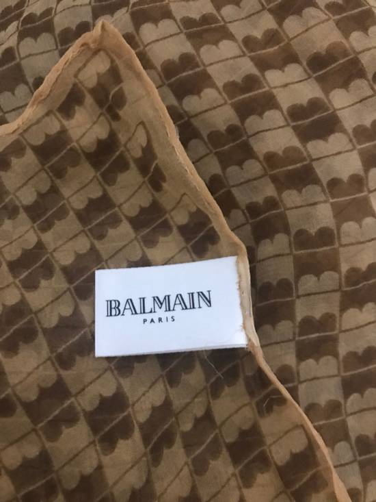 Balmain Patterned Silk Scarf Size ONE SIZE - 1