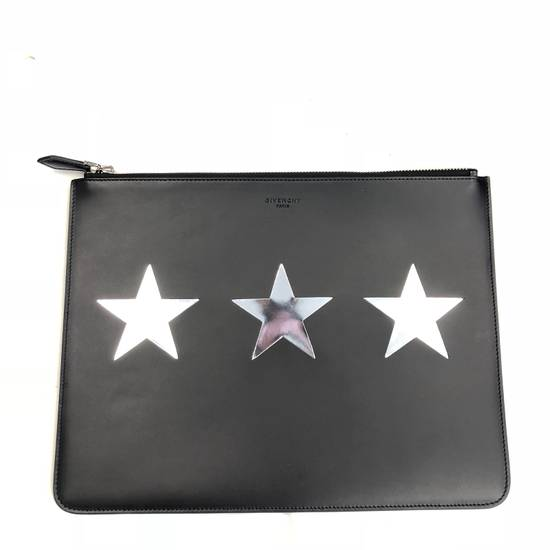 Givenchy Givenchy 3 Star Silver Motif Leather Pouch Bag New Size ONE SIZE