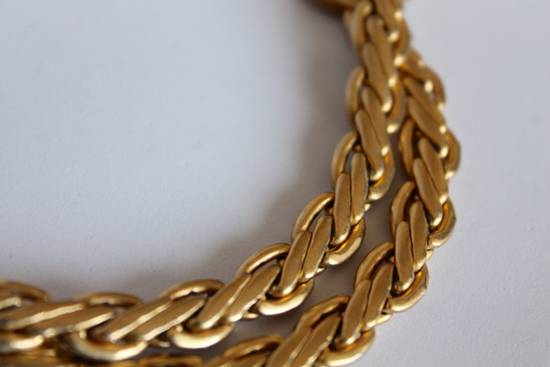 Givenchy Gold Plated Flat Wheat-Link Chain(*LAST DROP*) Size ONE SIZE - 2
