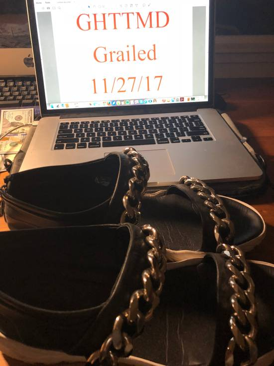 Givenchy Givenchy Black Leather Chain Sandals Size US 10 / EU 43