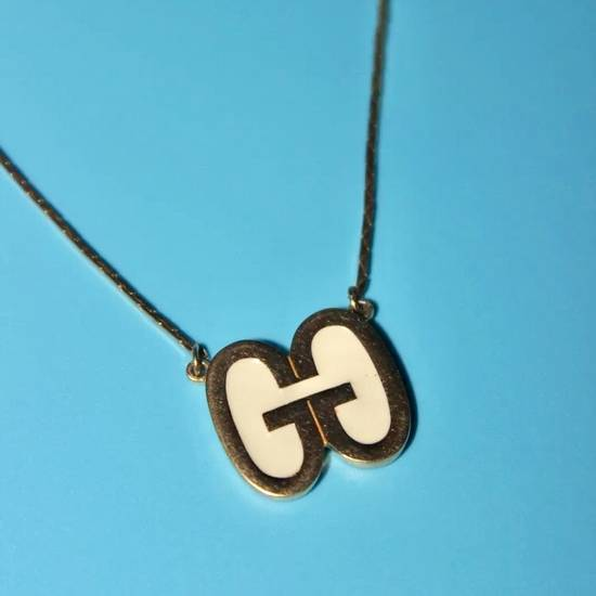 Givenchy Vintage Givenchy Gold Logo Pendant Necklace Size ONE SIZE