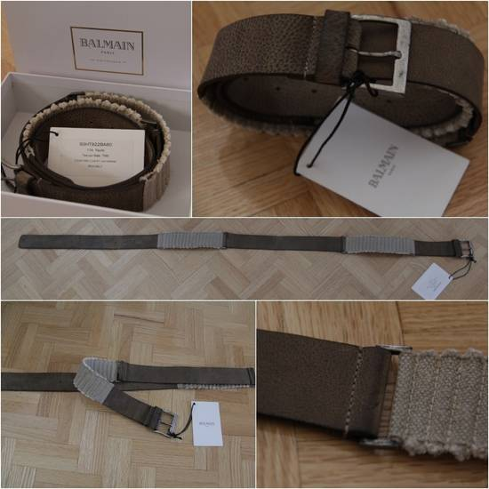 Balmain Size 95/38 - Leather / Fabric Belt Size 38