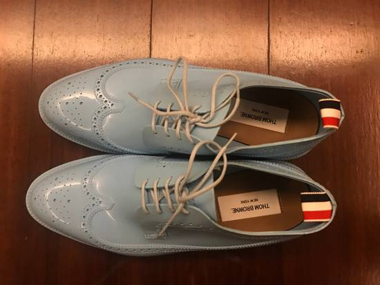 Thom Browne $1,424 patent rubber baby blue shoes Size US 9 / EU 42 - 3