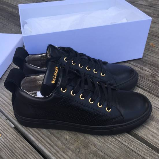 Balmain Back Leather Lowtop Sneaker Size US 8 / EU 41 - 3