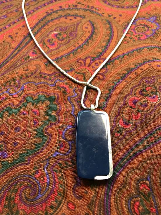 Givenchy Silver Blue Amulet Necklace Size ONE SIZE - 3