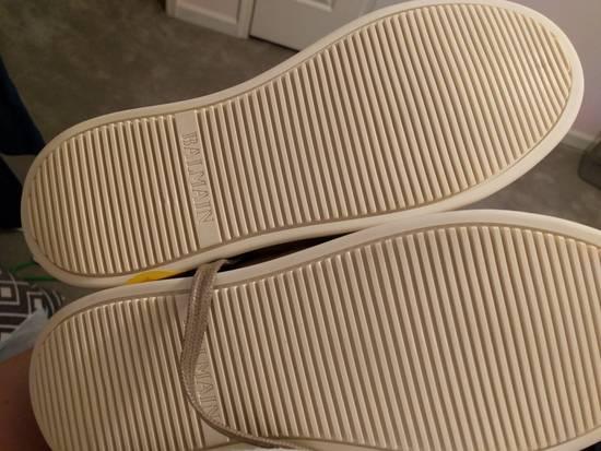 Balmain NEW Balmain Leather and Suede Hi-Top Sneakers Size US 9 / EU 42 - 5