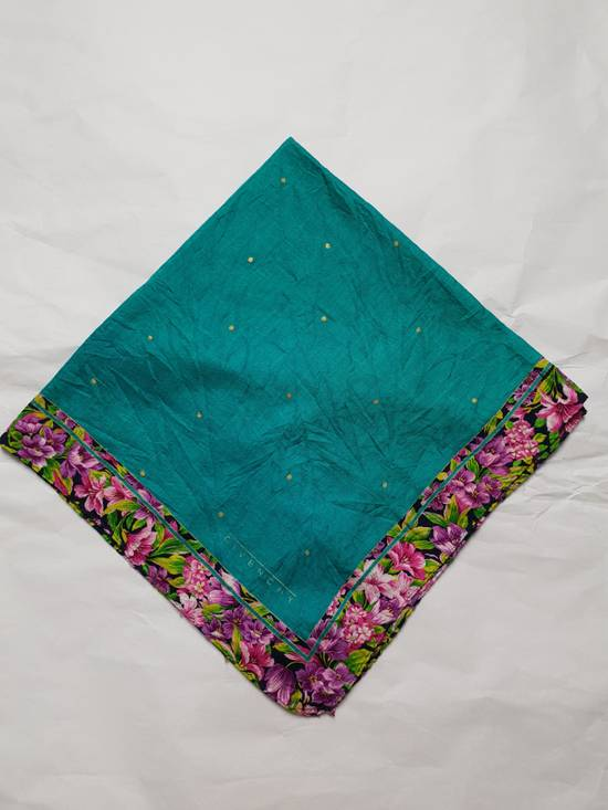 Givenchy Handky Bandana Givenchy Polkadot Green Torqoise Floral Frame Size ONE SIZE