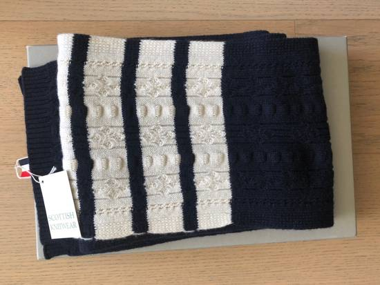 Thom Browne Oblong Cashmere Navy Blue Scarves Size ONE SIZE