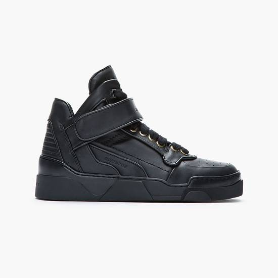 Givenchy BNIB DS Givenchy Black Leather Velcro-strap mid-top Size US 9.5 / EU 42-43