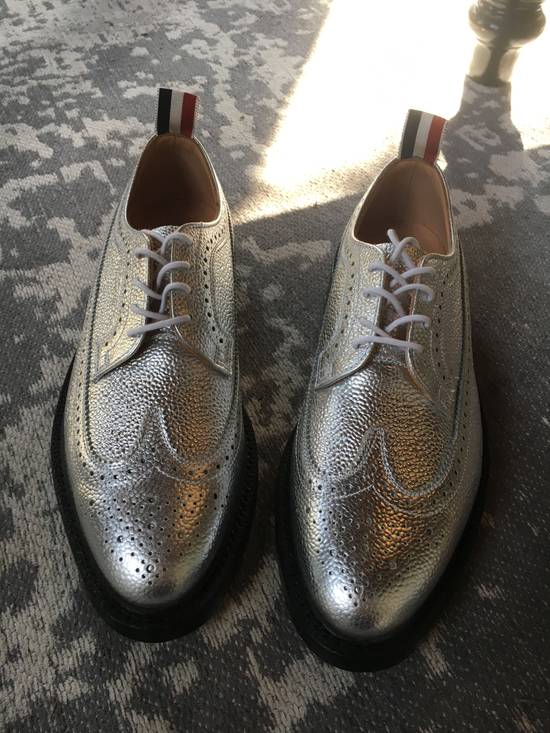 Thom Browne Thom Browne Silver Metallic Brogues Size US 8 / EU 41 - 1