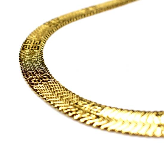 """Givenchy 17.25"""" Gold Logo Engraved Chain Necklace Size ONE SIZE - 2"""