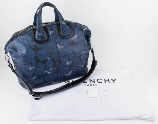 Givenchy Men's Blue/Black Leather Nightingale Paisley Carry On Bag Size ONE SIZE