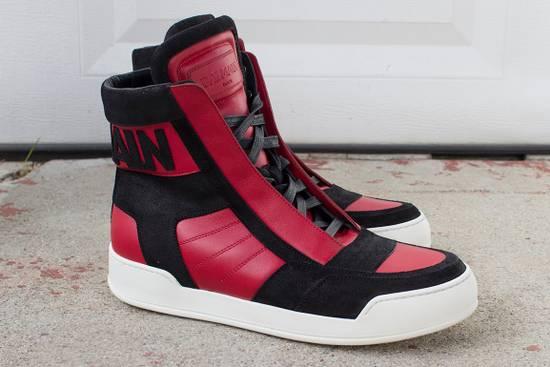 Balmain Logo Appliqué hi-top Sneakers Size US 9 / EU 42