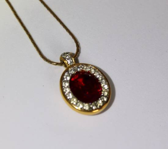Givenchy Gold Plated Red Crystal Necklace Size ONE SIZE - 3