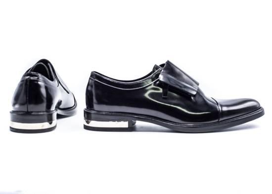 Givenchy Givenchy Mens Richelieu Metal Heel Black Leather Oxfords Size US 11 / EU 44 - 3