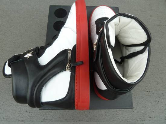 """Givenchy NO GIVENCHY ! D-Side """"Marshall"""" Star Studs Hitops Red/Black/White Size US 10 / EU 43 - 4"""