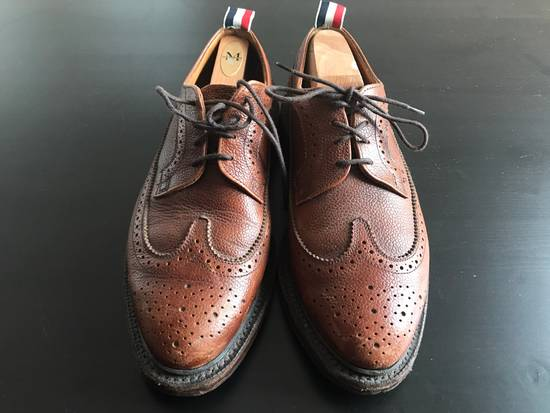 Thom Browne Classic Long Leather Wingtips(Brown) Size US 9 / EU 42