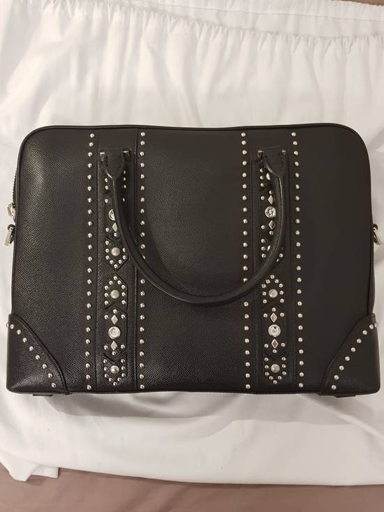 Givenchy Givenchy Men Leather Studded Black Briefcase Bag Brand New With Tags Size ONE SIZE - 9