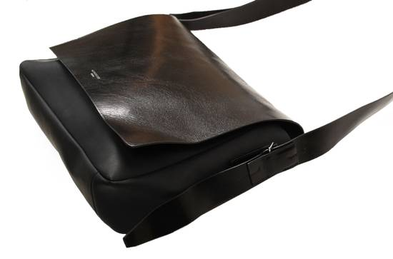 Givenchy Original Givenchy Paris Black Men Half Leather Shoulder Bag Size ONE SIZE - 2