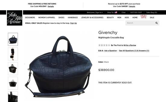Givenchy Crocodile Handbag $36,900 Size ONE SIZE - 8