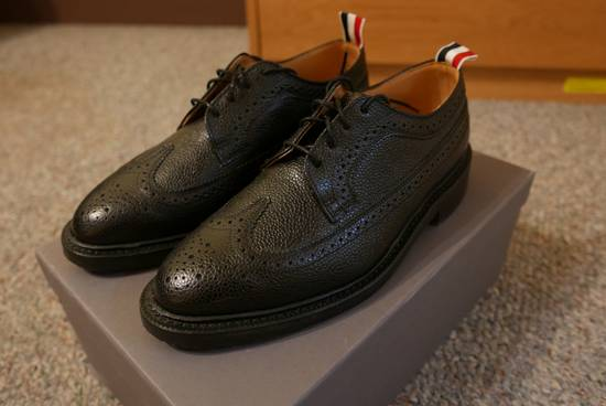 Thom Browne Pebble-Grain Leather Longwing Brogues Size US 8 / EU 41