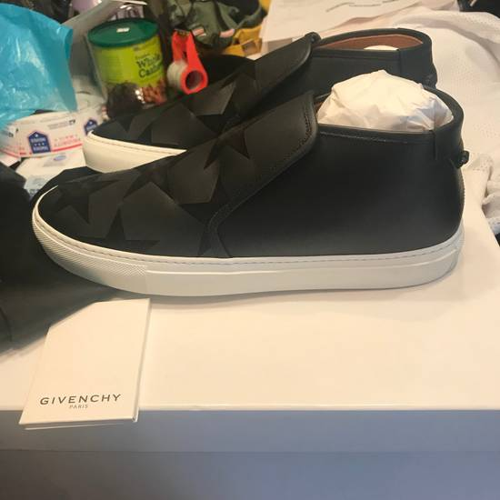 Givenchy NEW Givenchy Black Leather Star Mid-Top Slip-On sneakers Size US 9 / EU 42 - 2