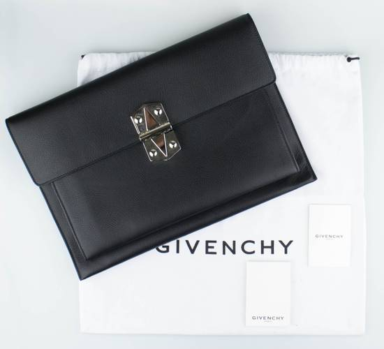 Givenchy Black Leather Diplomatica Briefcase Bag Size ONE SIZE