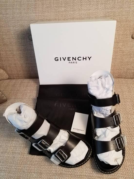 Givenchy Black Leather Multi-Strap Sandals Size US 12 / EU 45
