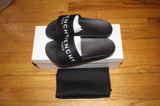Givenchy Slide Flat Sandal Black Size US 7 / EU 40