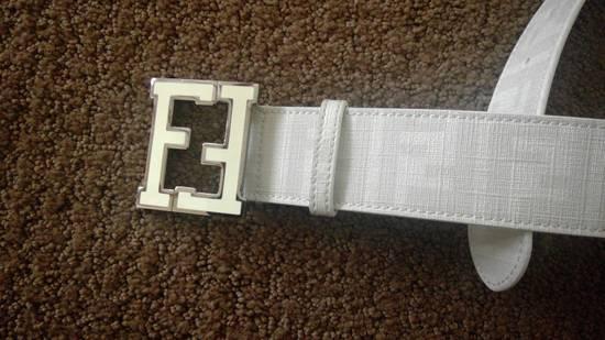 Fendi Fendi White Zucca College Belt Size 34