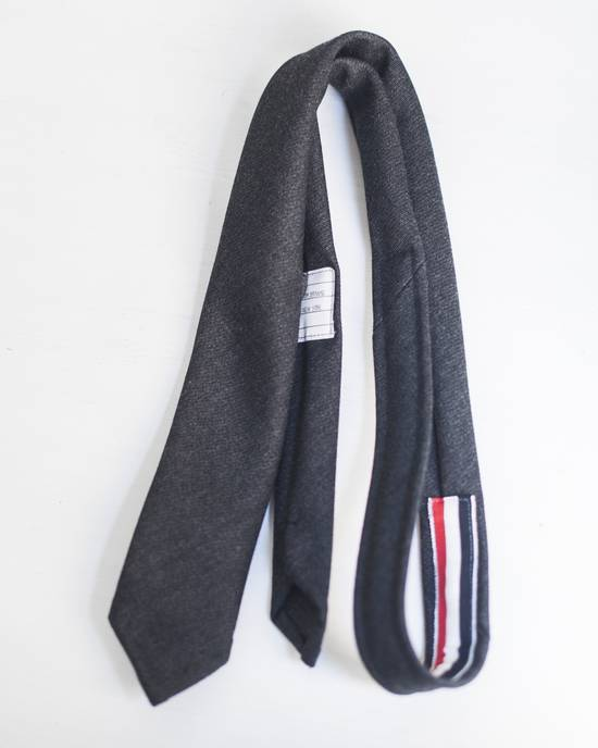 Thom Browne Charcoal Wool Tie Size ONE SIZE