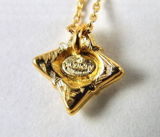 Givenchy Givenchy G Pendant Crystal Star Gold Tone Chain Vintage Necklace Diamonds Size ONE SIZE - 1