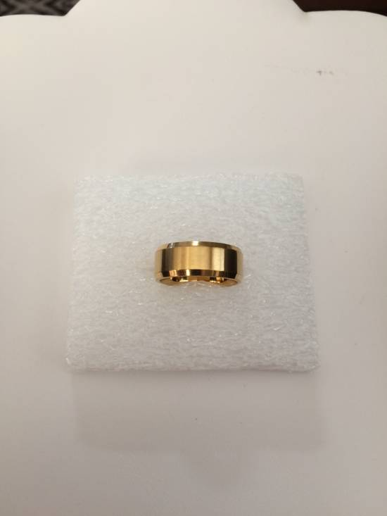 Jw Golden Stainless Steel Ring - size 8 Size ONE SIZE