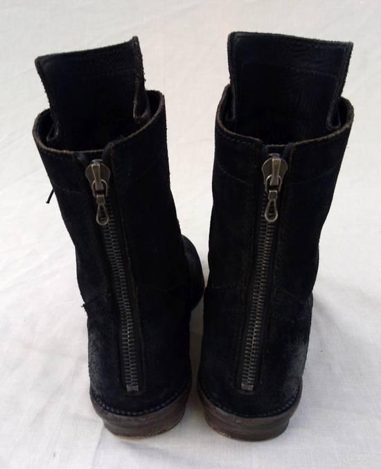 Julius Black Reversed Leather Backzip Combat Boots Size US 11 / EU 44 - 3