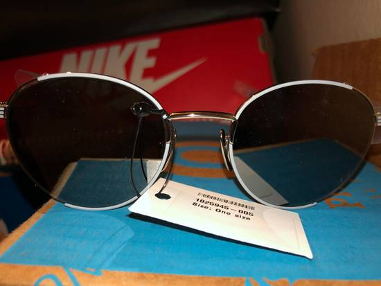 Thom Browne Thom Browne Round-Frame Silver Tone Sunglasses made in japan blue lenses 100 UV Tb-106-B Size ONE SIZE - 4
