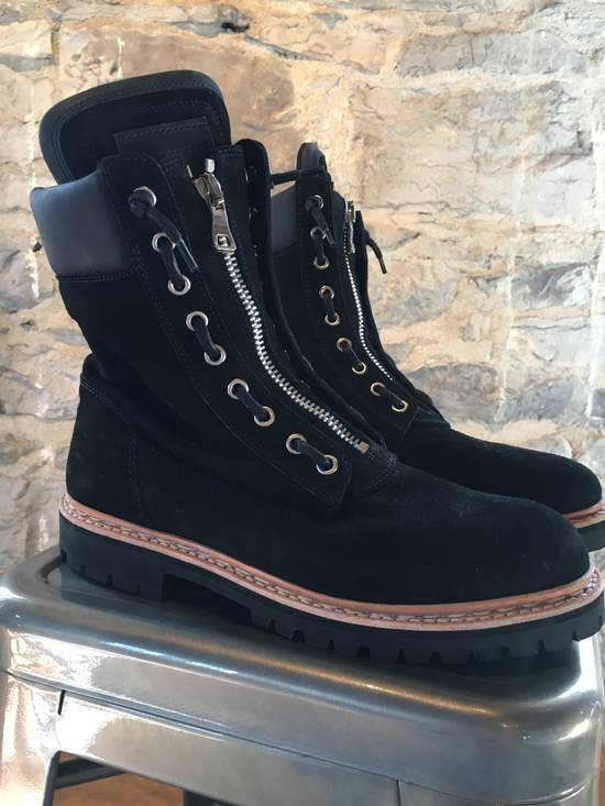 Balmain Balmain Black Suede Combat Boots Size US 8 / EU 41