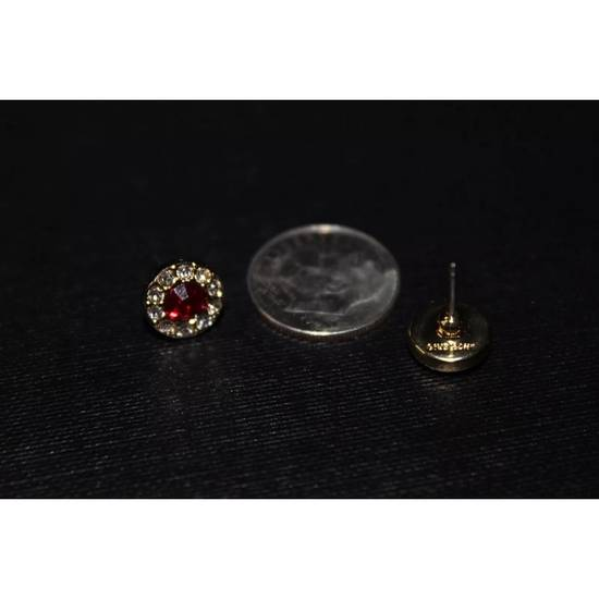 Givenchy Gold Ruby Crystal Earrings Size ONE SIZE - 1