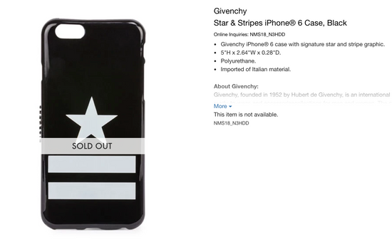 Givenchy Star and Stripes iPhone 6/6s Case Size ONE SIZE - 9