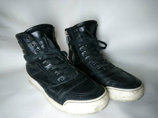 Balmain Black Leather Balmain Baskets Size US 9.5 / EU 42-43 - 2