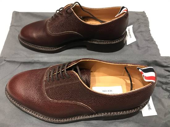 Thom Browne Brown Brogues with Leather Sole in Pebble Grain Size US 7 / EU 40
