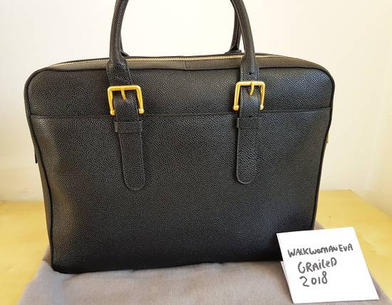 Thom Browne Thom Browne Business Bag briefcase suitcase Black Pebble Grain Size ONE SIZE - 3