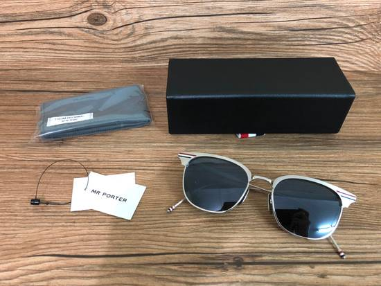 Thom Browne Brand New Thom Browne TB-104 B Satin Silver Sunglasses Size ONE SIZE