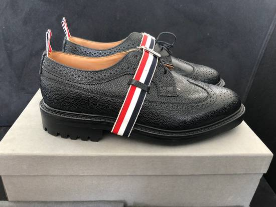 Thom Browne Thom Browne black grained-leather Longwing brogues size 9US Size US 9 / EU 42