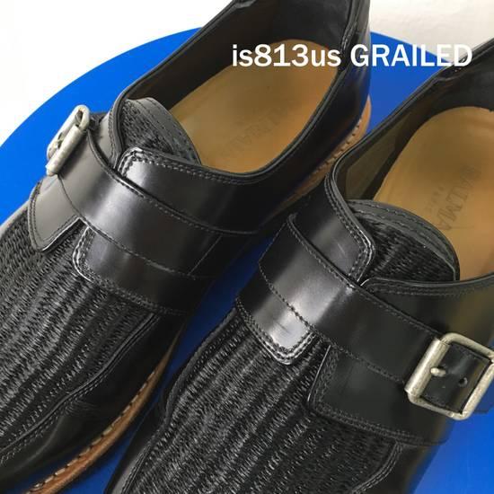 Balmain BALMAIN Black Leather Buckled Steel Capped Shoes Size US 9 / EU 42 - 6