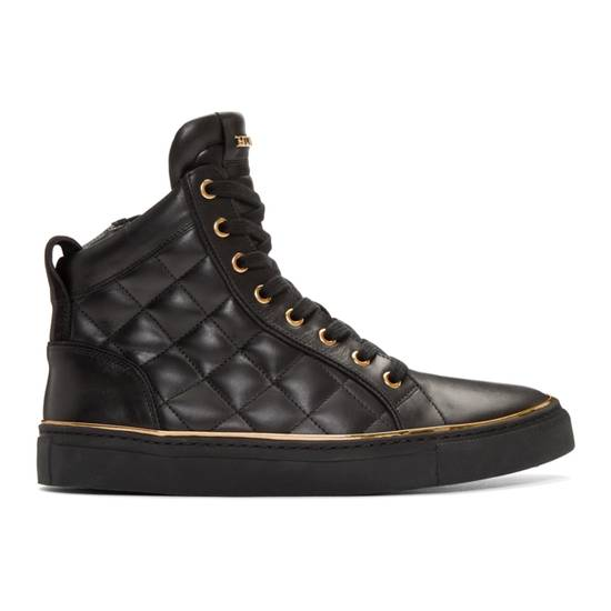 Balmain Quilted Hi Top Sneakers Size US 11 / EU 44 - 10